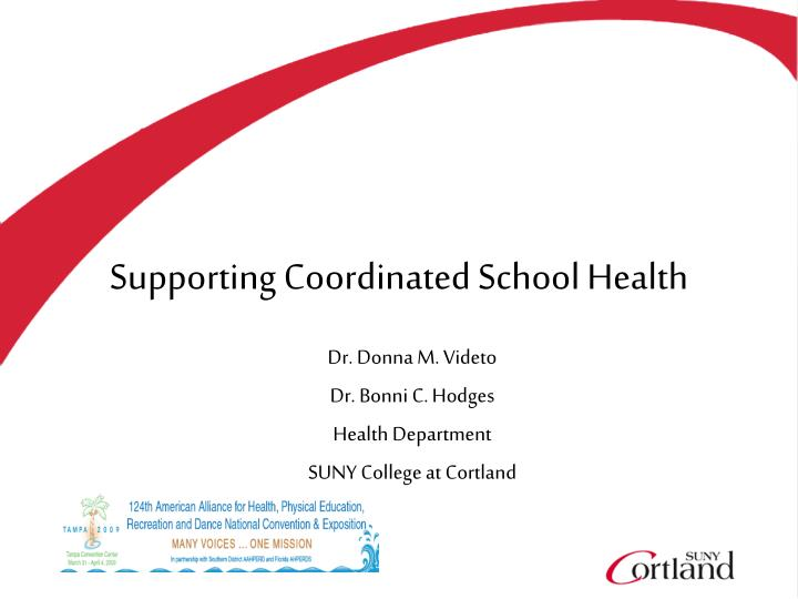supporting coordinated school health n.