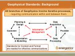 geophysical standards background