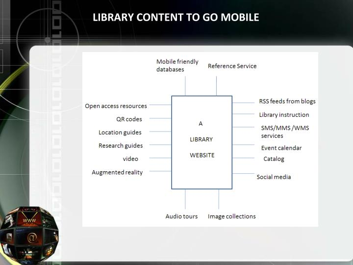 LIBRARY CONTENT TO GO MOBILE