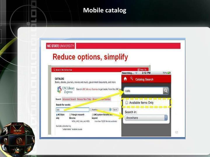 Mobile catalog