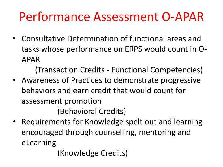 Performance Assessment O-APAR