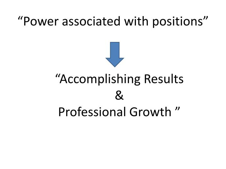 Power associated with positions