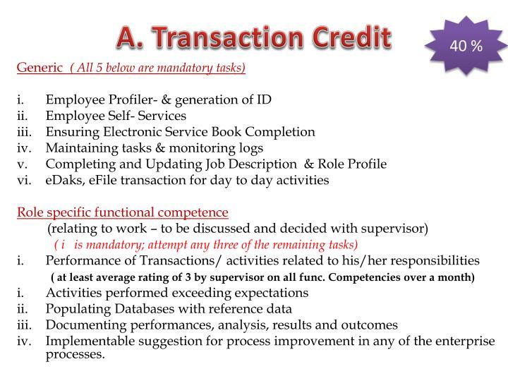 A. Transaction Credit