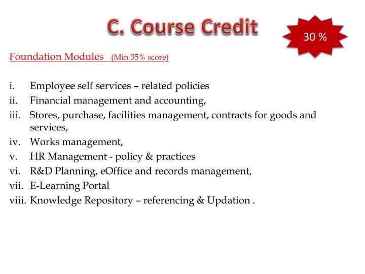 C. Course Credit