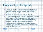 m dulos text to speech