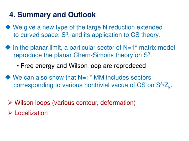 4. Summary and Outlook