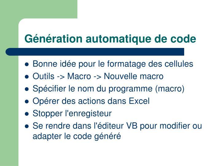 Génération automatique de code
