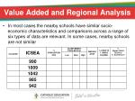 value added and regional analysis
