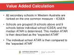 value added calculation