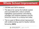 whole school improvement