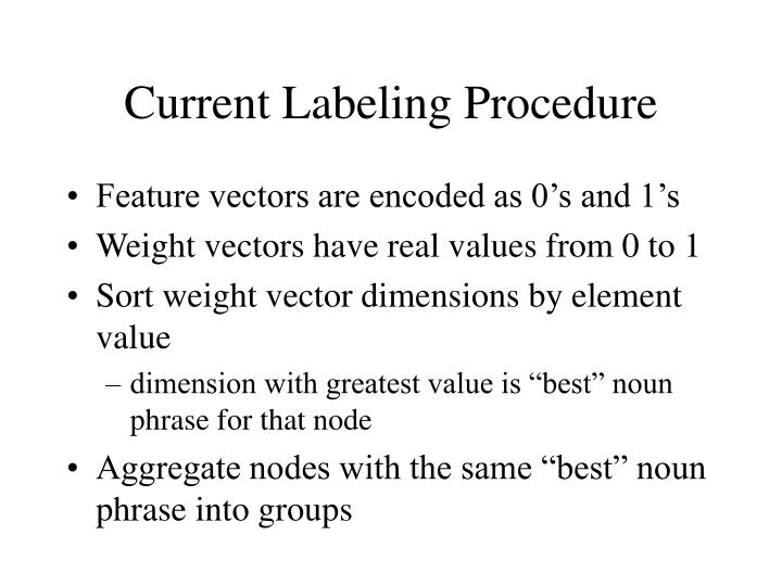 Current Labeling Procedure