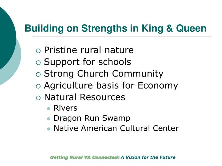 Building on Strengths in King & Queen