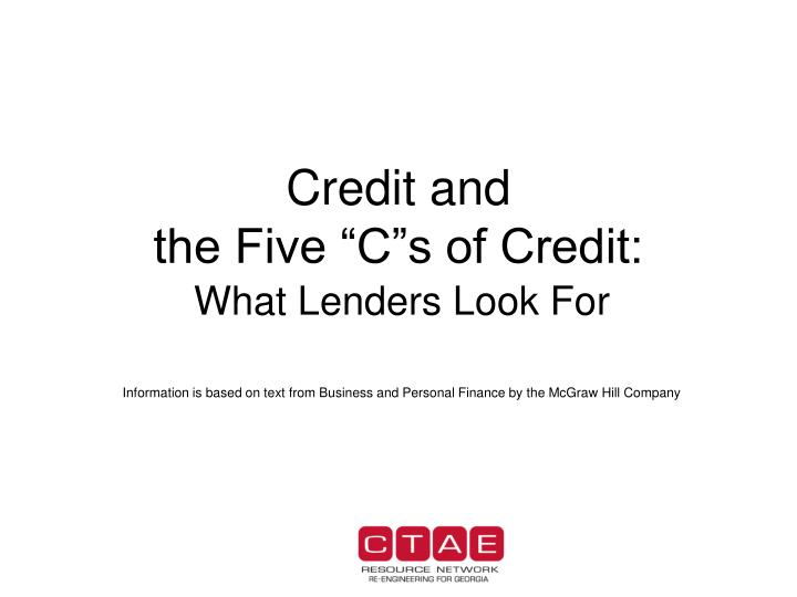 credit and the five c s of credit n.