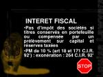 interet fiscal