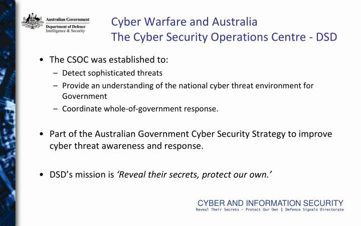 Cyber Warfare and Australia