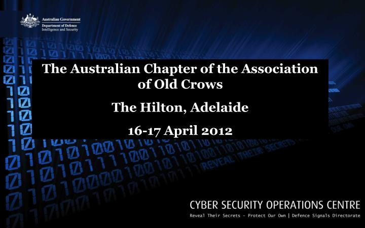 The Australian Chapter of the Association of Old Crows