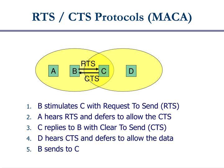RTS / CTS Protocols (MACA)