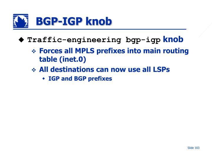 BGP-IGP knob