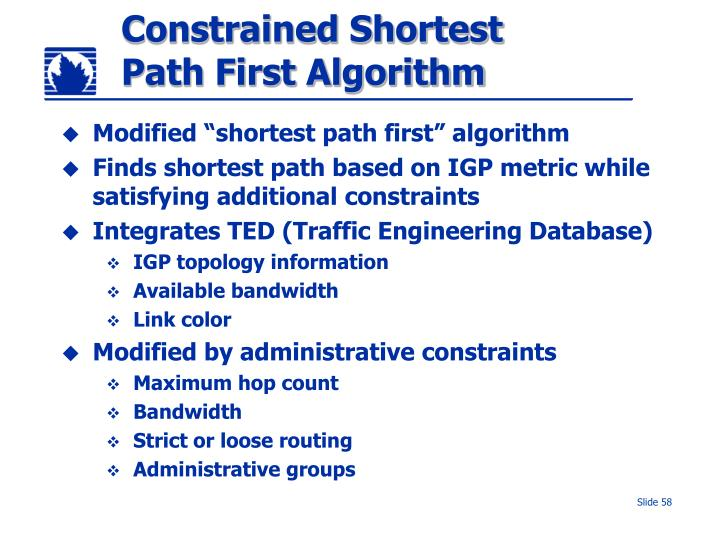 Constrained Shortest