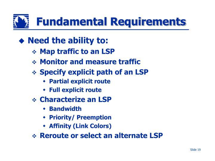 Fundamental Requirements