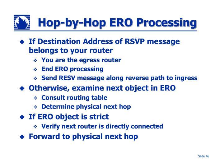 Hop-by-Hop ERO Processing