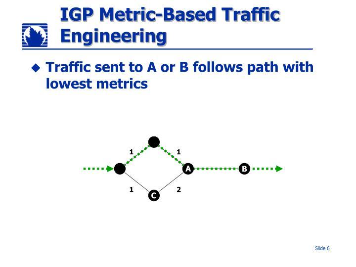 IGP Metric-Based Traffic Engineering