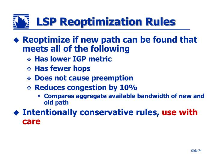 LSP Reoptimization Rules
