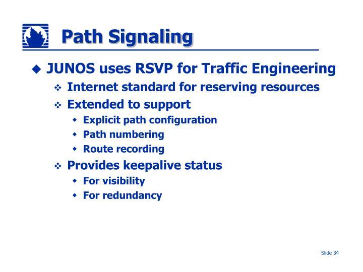 Path Signaling