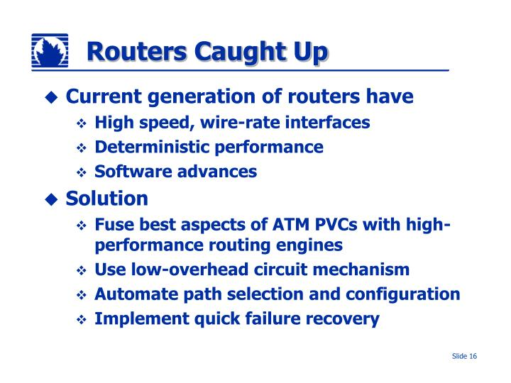 Routers Caught Up