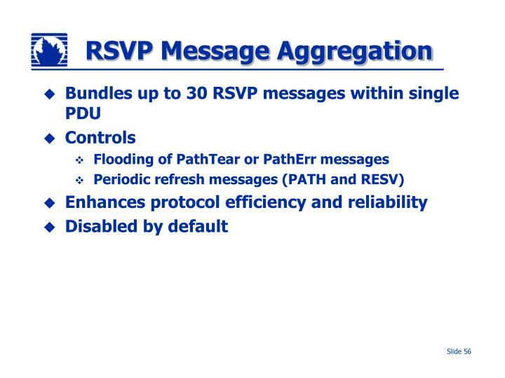 RSVP Message Aggregation