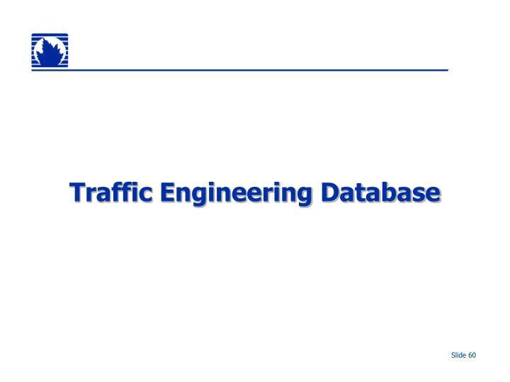 Traffic Engineering Database