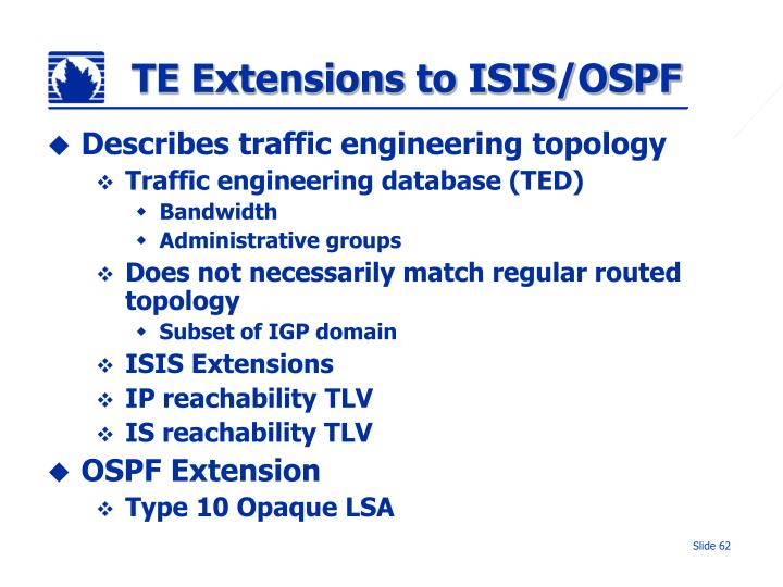 TE Extensions to ISIS/OSPF
