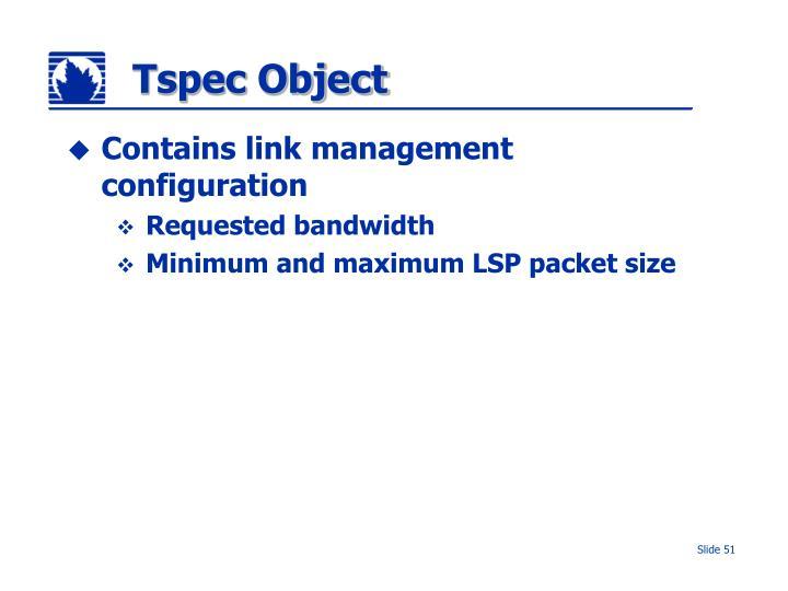 Tspec Object