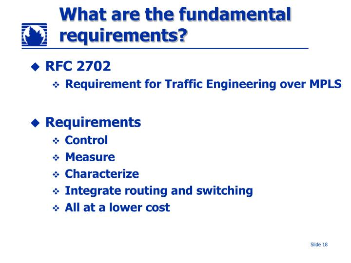 What are the fundamental requirements?