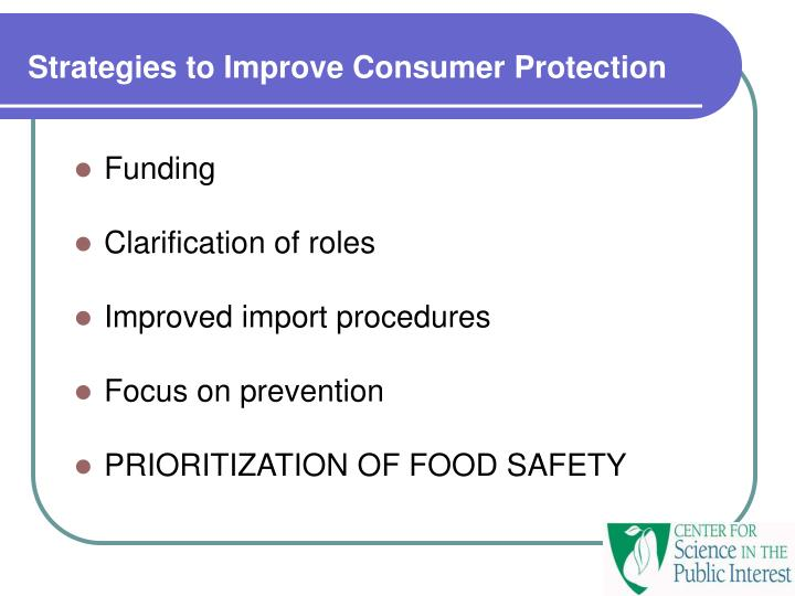 Strategies to Improve Consumer Protection