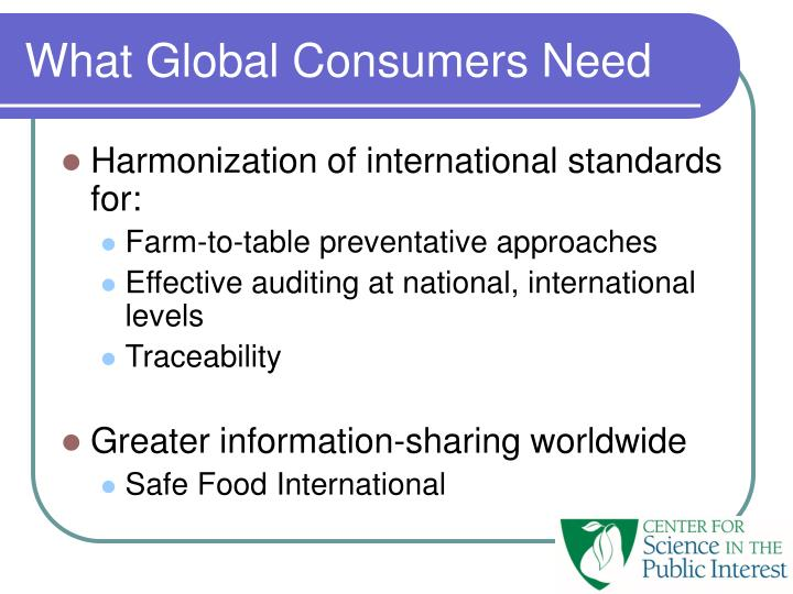 What Global Consumers Need