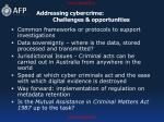 addressing cybercrime challenges opportunities