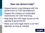 how can donors help