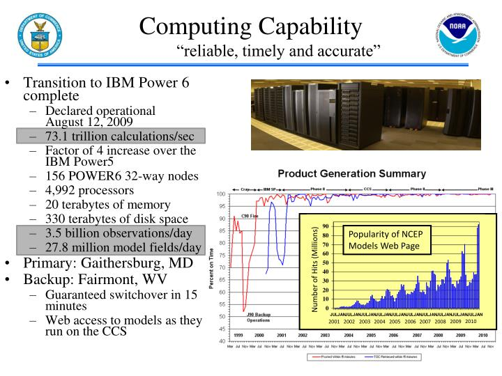 Transition to IBM Power 6 complete