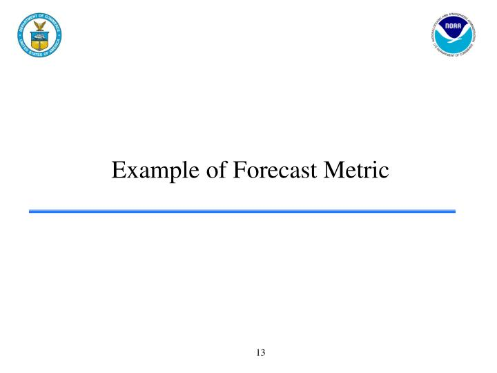 Example of Forecast Metric