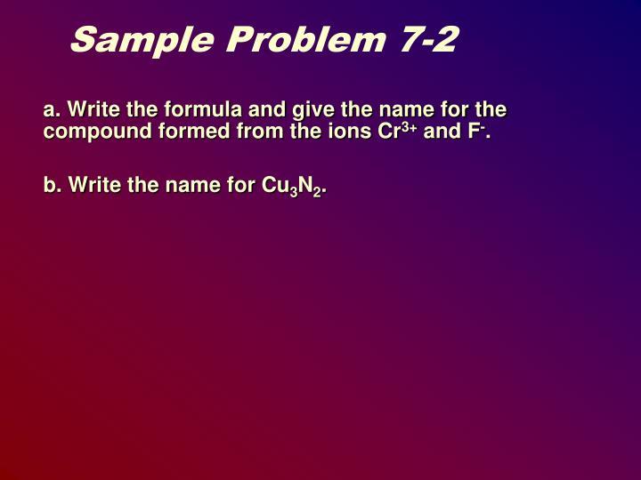 Sample Problem 7-2
