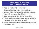 memorial activities following suicide1