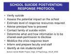 school suicide postvention response protocol