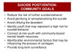 suicide postvention community goals