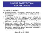 suicide postvention surveillance