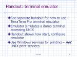 handout terminal emulator