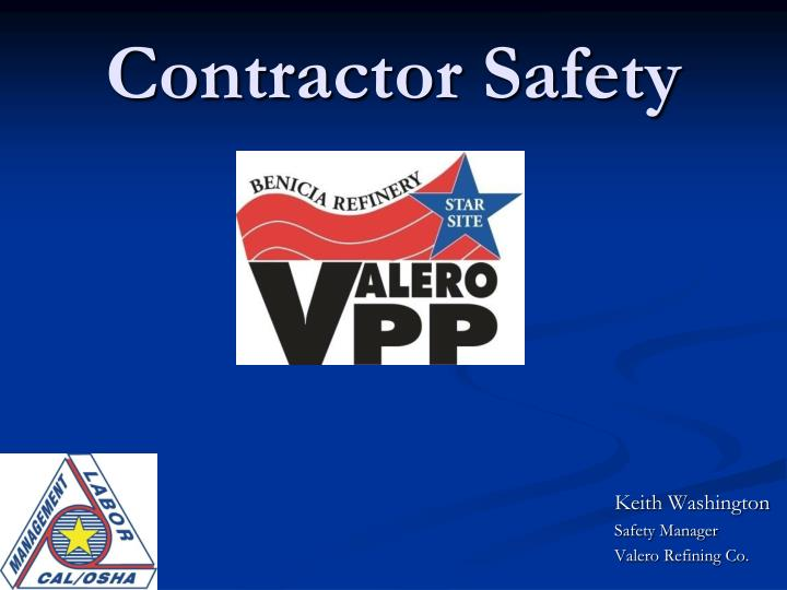 contractor safety n.