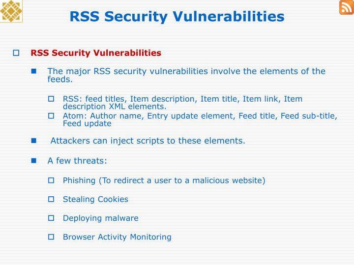 RSS Security Vulnerabilities