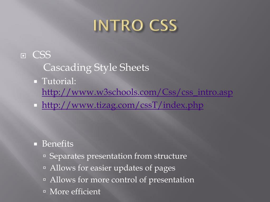 http www w3schools com css css_intro asp