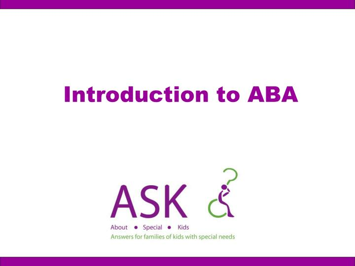 introduction to aba n.